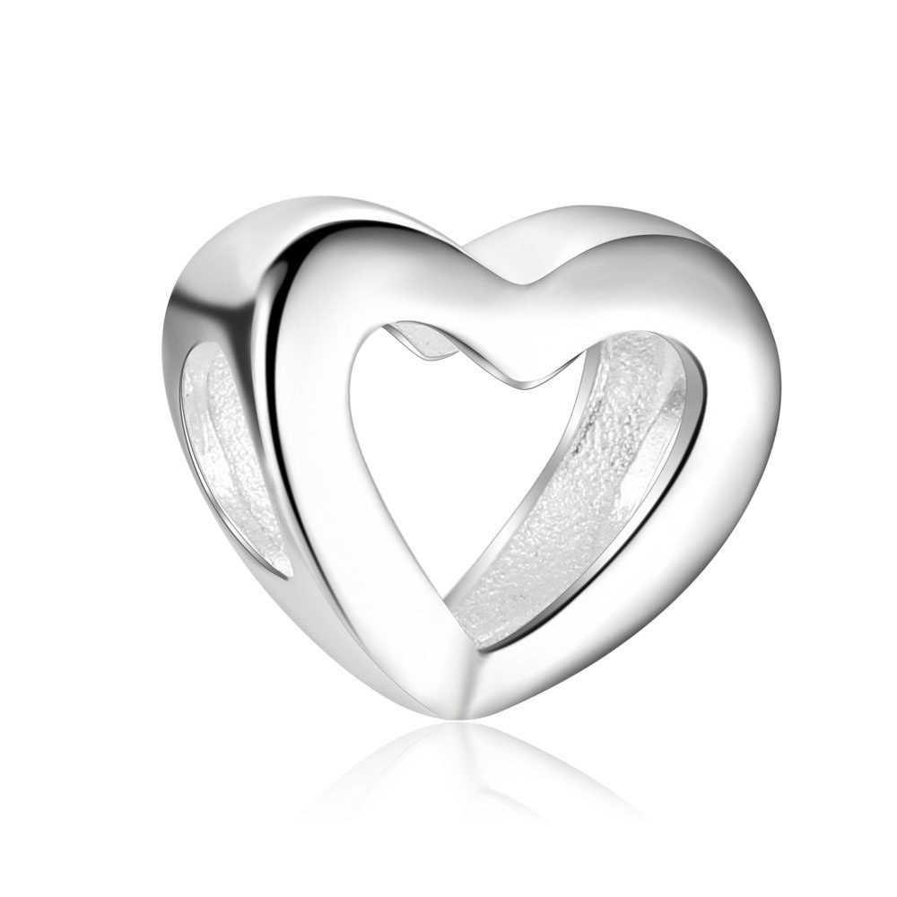 ZMZY Original 925 Sterling Silver Charm ลูกปัดหัวใจ Pandora สร้อยข้อมือสร้อยคอผู้หญิงแฟชั่นเครื่องประดับของขวัญ