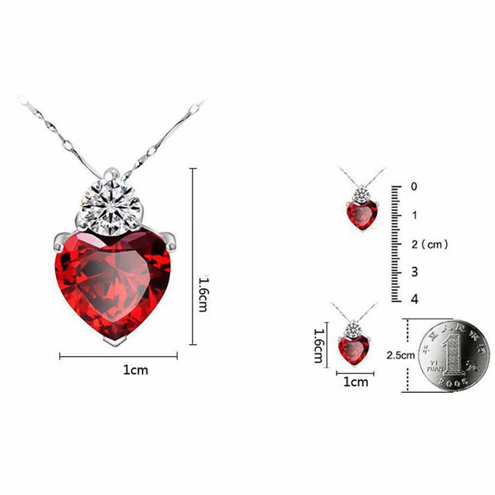 Naszyjnik kobiety stylowy klasyczny luksusowy łańcuszek z sercem naszyjniki naszyjnik damski biżuteria wisiorek Collares De Moda 2019 L0605