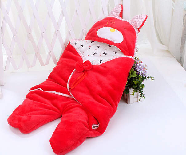 4 colors   Baby Winter Sleep Sack Coral cotton  Swaddle Blankets Baby Sleeping Bag newborn free shipping