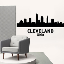 Cute cleveland ohio Vinyl Kitchen Wall Stickers Wallpaper For Kids Room Decoration Waterproof