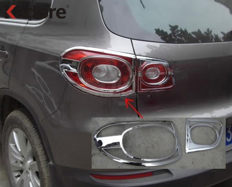 For Volkswagen Tiguan 2009 2010 2011 2012 ABS Chrome Rear Taillight Sticker Tail Light Lamp Cover