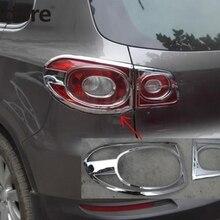 Для Volkswagen Tiguan 2009 2010 2011 2012 хромированный задний светильник, наклейка, задний светильник, накладка, аксессуары для автомобиля
