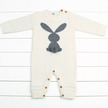 Newborn Boys Rompers Cute Animal Rabbit Knit Baby Girls Jumpsuits Spring Fall Infant Kids Overalls Autumn Toddler Bunny Clothing autumn baby fashion cute warm rompers cute rabbit ears design baby bunny hooded romper newborn boys and girls one pieces suits
