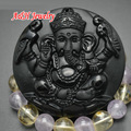 10pcs Natural Obsidian Carved Mixed Elephant God Chinese Dragon Buddha Pendant For Men and Women Jewelry Making