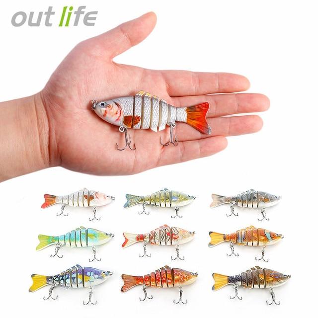 Outlife 7-segement Lure Fishing Swimbait Crankbaits Multi-jointed Carp Fishing Lure Wobbler Artificial Bait Tackle 10cm 20g