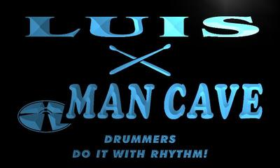 x0104-tm Luis Man Cave Drummers Lounge Custom Personalized Name Neon Sign Wholesale Dropshipping On/Off Switch 7 Colors DHL