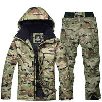 Camouflage For men ski suit set Snowboarding suit clothing Waterproof breathable winter costumes winter suit jacket + trousers