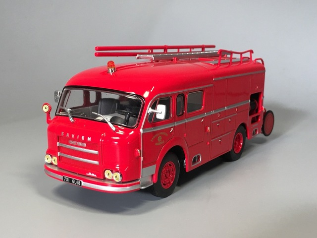 Ixo 1:43 camión vehículo de bomberos-saviem jl 25 guinard diecast car model