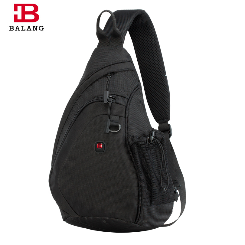 BALANG Messenger Bag Men Nylon Multipurpose Chest Pack Sling Shoulder Bags for Men Casual Crossbody Bolsas 2017 New Fashion dark colour metal nylon messenger bag