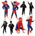 Дети Человек-Паук Костюмы с Маской Косплей Мальчики Красный/Черный Superheros Костюмы Holloween Подарки для Детей