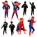 Kids Spiderman Costumes with Mask Cosplay Boys Red/Black Superheros Outfits Holloween Gifts for Children