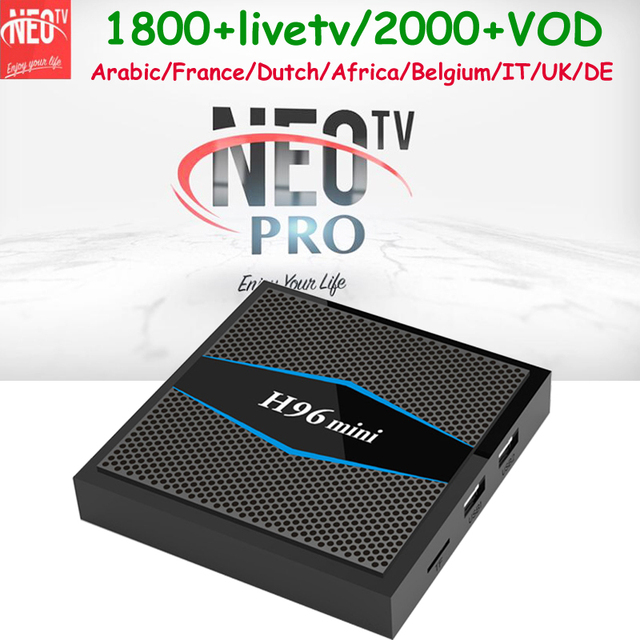 US $67 98 |France IPTV Arabic Smart tvbox H96mini 2+16G 1 year NEOTV PRO  APP Free Tunisia Dutch Belgium Italy Germany Europe IP TV Channels-in  Set-top