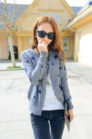 Europe All Match Female Stars Cashmere Cardigan Knit Shirt Fashion Leisure Pure Cashmere Wool Sweater Coat
