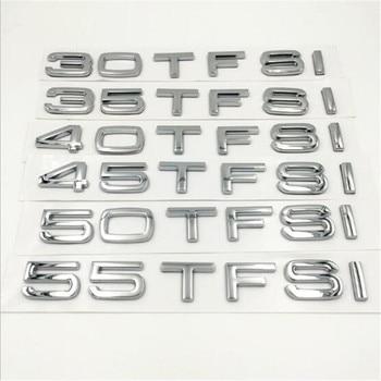 20pcs New Car Styling 3D ABS Silver 30TFSI 35TFSI 40TFSI 45TFSI 50TFSI 55TFSI Rear Boot Badge Emblem Sticker For Q3 Q5 Q7 A4 A6