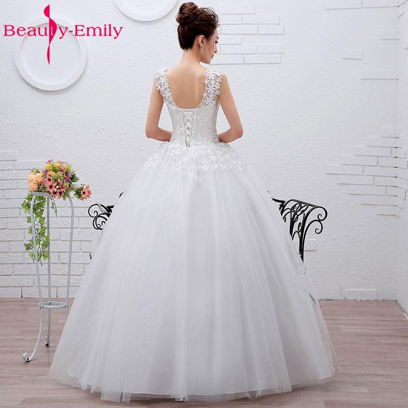 Ομορφιά-Emily Plus Μέγεθος Λευκό Φτηνές - Γαμήλια φορέματα - Φωτογραφία 2