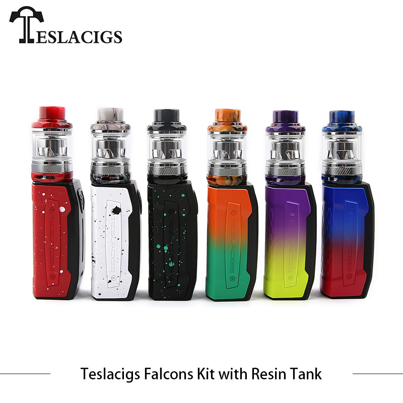 D'origine E Cigarettes Tesla Faucons Starter Kit avec 4 ml Résine Réservoir 2000 mah TS-XX 0.18ohm Bobine Plug-n -Pull Bobine VS Vaporesso