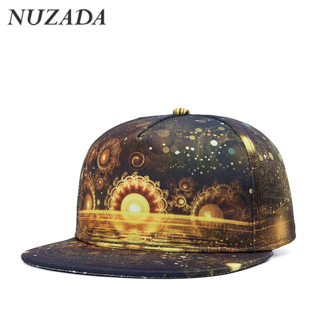 Marcas NUZADA Impresión 3D de Alta calidad de Algodón de Moda Casual Hombres mujeres deportes sombrero sombreros gorra de béisbol del hip hop snapback caps jt-016