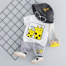 New Baby Summer Clothes For Boy Set O-neck Cartoon T-shirt+Shorts 2pcs Suit Infant Clothing Fashion Cotton Casual Newborn Outfit