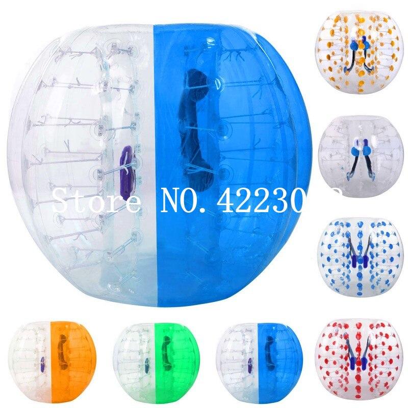 0.8mm PVC 1.2M 1.5M 1.7M Air Bubble Soccer Air Bumper Ball Body Zorb Bubble Ball Football,Bubble Soccer Zorb Ball For Sale