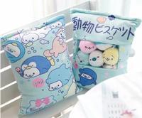 1pc 50cm cartoon animal sea lion soft plush pillow cushion eight little round doll stuffed toy girl boy creative gift
