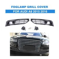 ABS FogLamps Cover Grill With Hole Foglights Mesh Grille Frame For Audi A8 High End 2015