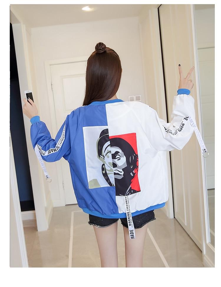 HTB1WALibRWD3KVjSZFsq6AqkpXaT Jackets Women 2018 New Women's Basic Jacket Fashion Thin Girl Windbreaker Outwear Bomber Female Baseball Women Men Coat