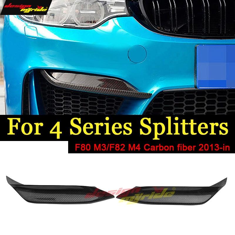 M3 F80 Conner Splitter Up P Style Carbone Fibon Brillant Noir Pour BMW F80 M3 F82 F83 M4 2013- 2018 420i 428i 430i 440i Antérieure à lèvres