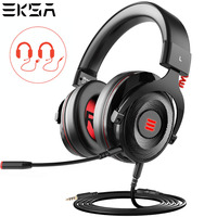 EKSA E900 2 In 1 USB Virtual 7.1/ 3.5mm Professional Gaming Headset With Mic Voice Control/LED Light Headphones For PC Gamer