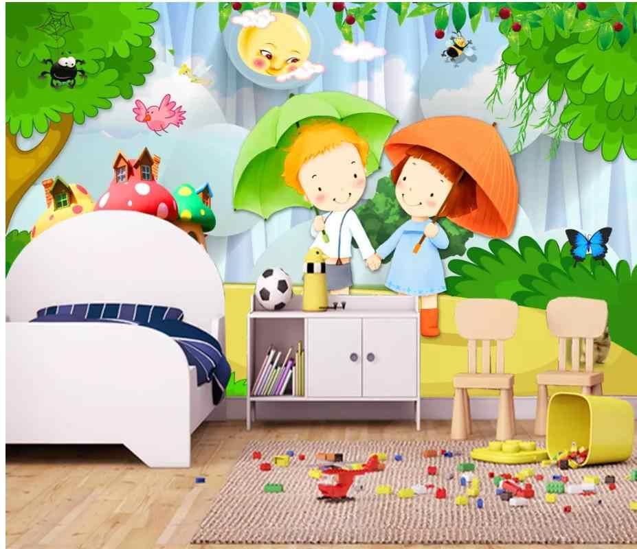 3d Wallpaper Romantic Couple 3d Cartoon Children Room Kids Room Background Wall Painting Wallpaper 3d Mural For Living Room Aliexpress