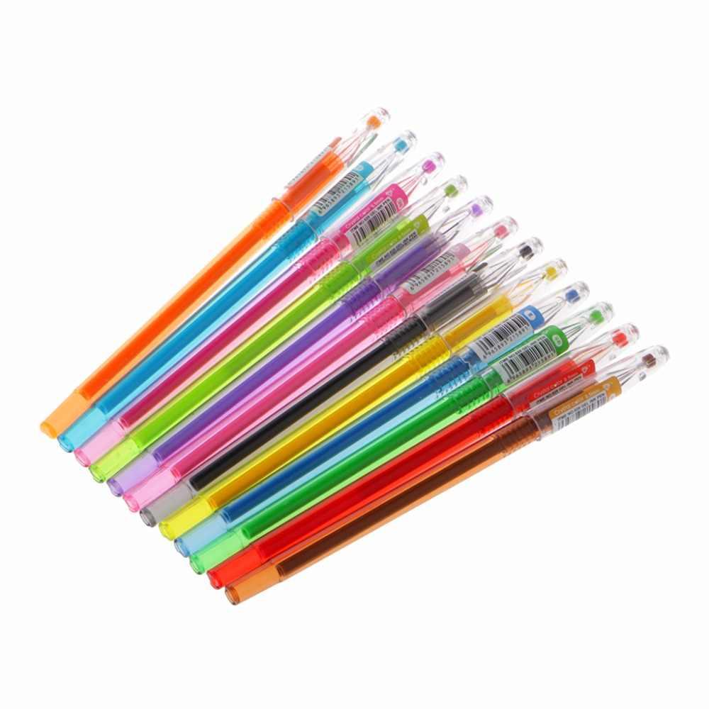Bolígrafo Diamante de gel suministros escolares dibujar 12 colores bolígrafo estudiante Color caramelo regalos