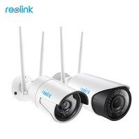 Reolink ipカメラのwi-fi 2.4グラム/5グラム4mp hdセキュリティカムsdカード弾丸屋外ビデオ監視RLC-4101WS (2カムパック)