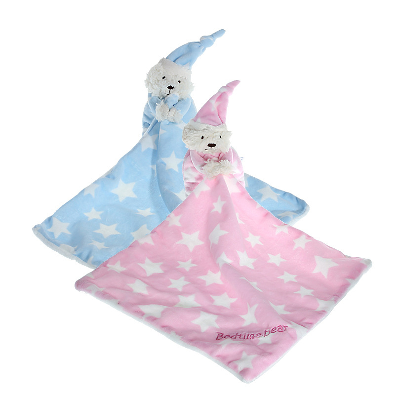Soft Infant Bear Reassure Towel Toy Appease Star Bear Newborn Blankie Towel Gift Educational Plush Toy Baby Gift