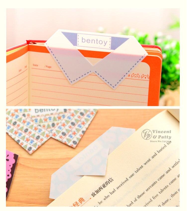 12 Pcslot Fresh Collar Bookmarks Making Skirt Book Marker Pvc Book