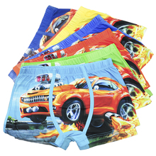 5 Pcs/lot Baby Children's Boxer Underpants Briefs Cartoon Car Kids Boy Underwear For Boys Underware Pants For 3-11 Y