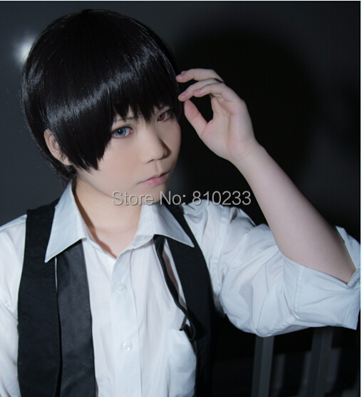Suncos Tokyo Ghoul Ken Kaneki Short Black 30cm 12 Cosplay Costume