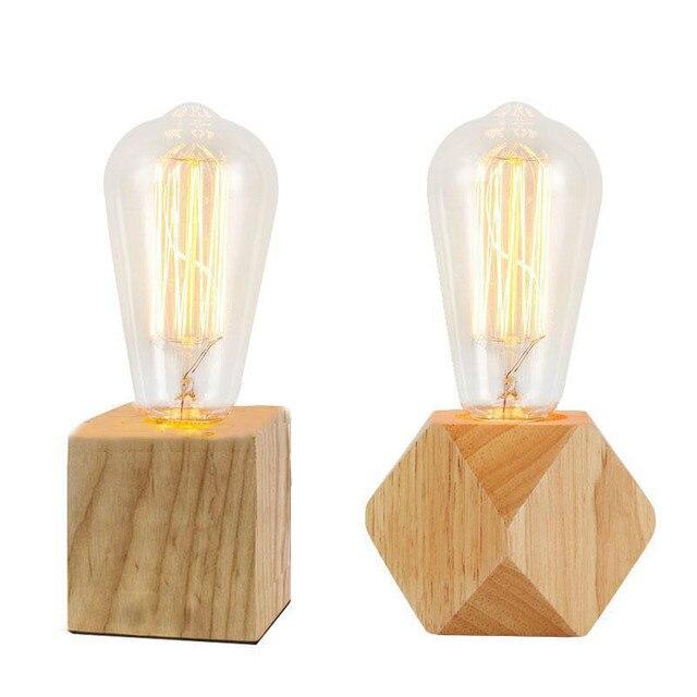 Retro Kaffee Shop Tisch Lampe Holz Vintage Schreibtisch Lampe