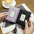 Moda Mulheres Carteiras Curtos Senhoras Borla Pequena Carteira Titular do Cartão de Mulheres Fring Bolsa Bonito Da Menina Bolsas Carteira Feminina 6N12-38