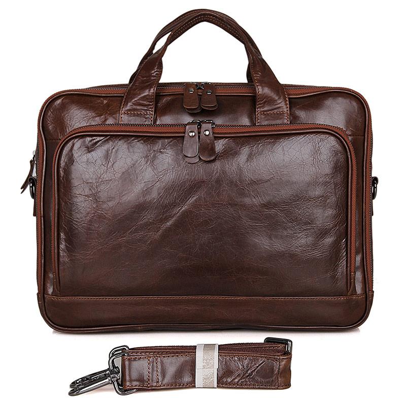 Guarantee Real Leather Laptop Bag Men Unique Handbag Briefcases