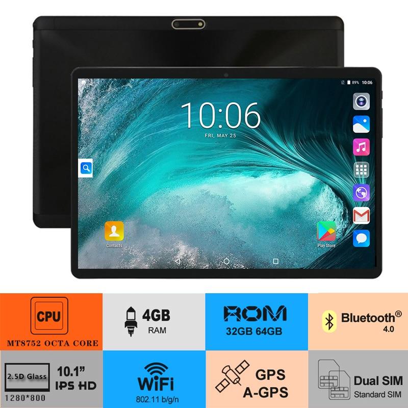 2019 New 10 inch Tablet PC Octa Core 4GB RAM 64GB ROM 1280 800 IPS 2