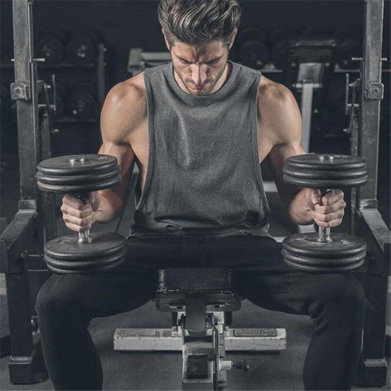 2018 Brand gyms clothing for men workout singlet stringer   tank     top   men fitness vest muscle sleeveless shirt M-XXL
