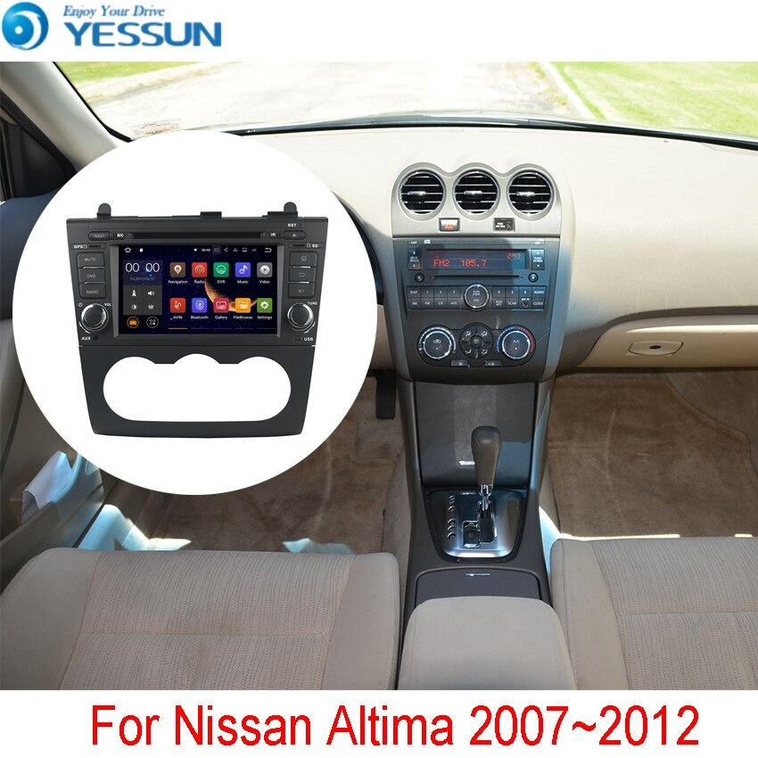 YESSUN Android Radio De Voiture Lecteur DVD Pour Nissan Altima 2007 ~ 2012 Stéréo Radio Multimédia GPS Navigation Avec WIFI Bluetooth AM/FM