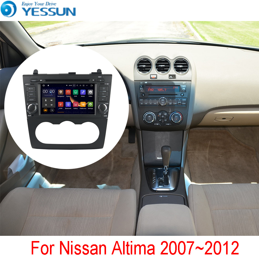 YESSUN Android Radio Lettore DVD Dell'automobile Per Nissan Altima 2007 ~ 2012 Stereo Radio Multimediale di Navigazione GPS Con WIFI Bluetooth AM/FM