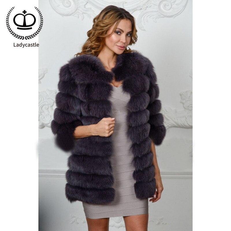 Complet Femmes Manteaux Purple Pardessus De Mode 2018 085 Col Top Fashion Renard Fourrure Nouveau Tendance Réel Fc Grey Manteau Pelt Recommander Fourrures Rond Pour byvfY7gI6