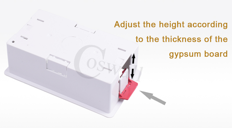 Coswall 86 type 2 gang dry lining box for gypsum board plasterboad drywall 35mm depth wall switch box wall socket cassette (white)