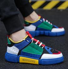 OLOMM 2019 New Spring Fashion Brand Leisure Shoe Men Classic  White Patchwork Lace Up Youth Male Casual Shoes
