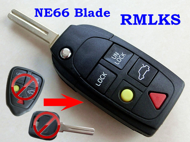rmlks replacement shell folding flip smart keyless entry remote keyrmlks replacement shell folding flip smart keyless entry remote key case fob fit for volvo s80