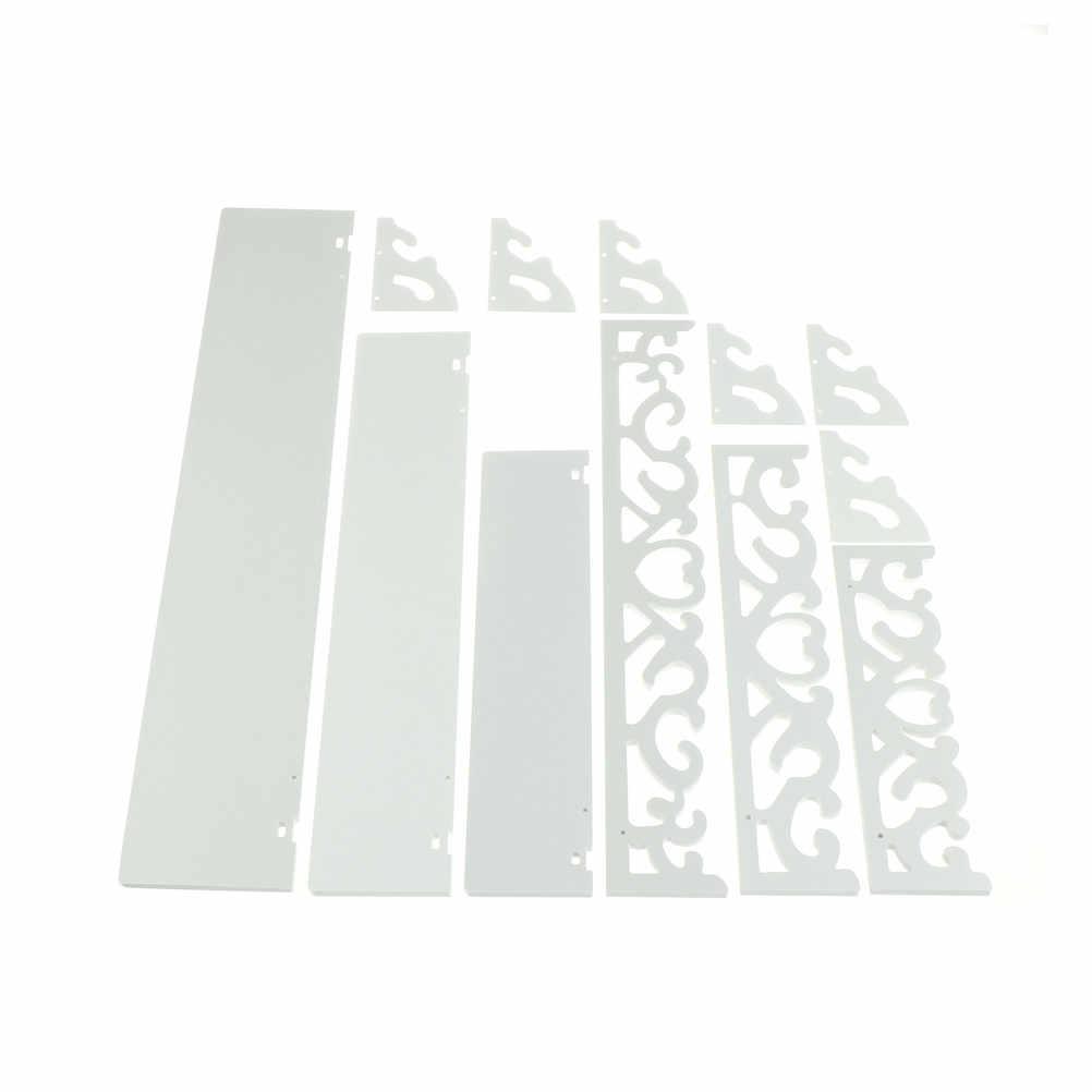 1 conjunto pequeno + médio + tamanho grande + branco prateleira de parede de madeira display pendurado rack armazenamento bens titular decoração da sua casa