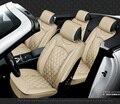 Para CITROEN C Quatre C Elysee C2 C3 C5 marca negro suave cubierta de asiento de coche de cuero cubierta delantera y trasera conjunto a prueba de agua para el coche asiento