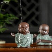 NOOLIM кунг-фу маленький монах чай питомец керамический будда чай играть украшение дома бутик чай аксессуары маленькие украшения