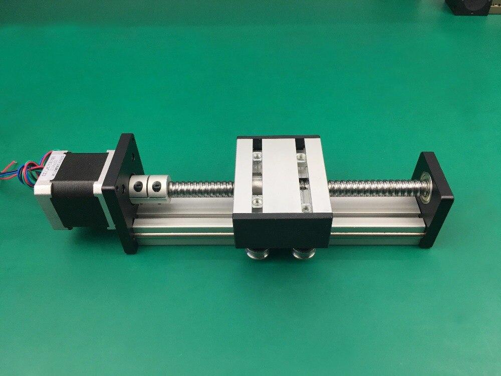C7 Ballscrew 1204 1605 1610 Effective travel 500mm 600mm 700mm slide Linear Guide+Nema23 Stepper Motor CNC Stage Linear Motion cnc linear guide 700mm linear mould sfu1605 rail part nema23 stepper motor 57 motor for cnc work table